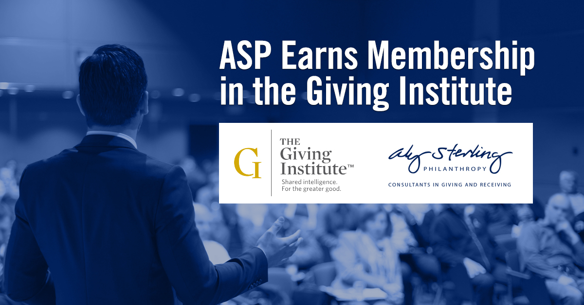 ASP Earns Giving Institute Membership