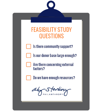 A capital campaign consultant will conduct a feasibility study by asking stakeholders key questions.