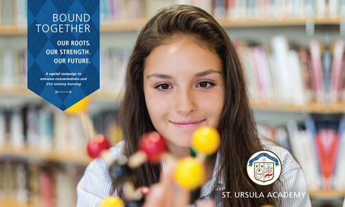 St. Ursula Academy has done a great job of branding their capital campaign marketing and publicity materials.