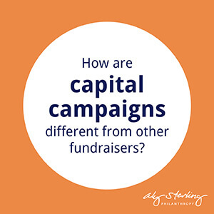 How are capital campaigns different from other fundraisers?