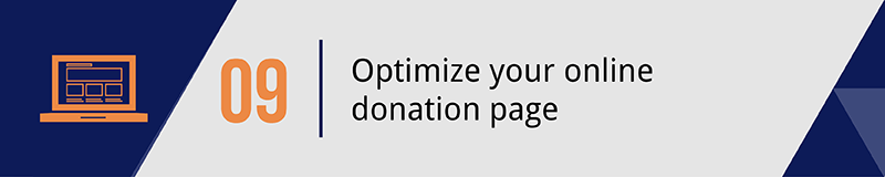 Improve your mobile giving strategy by optimizing your online donation page.