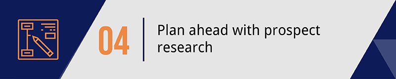 Plan your mobile giving strategy with prospect research.