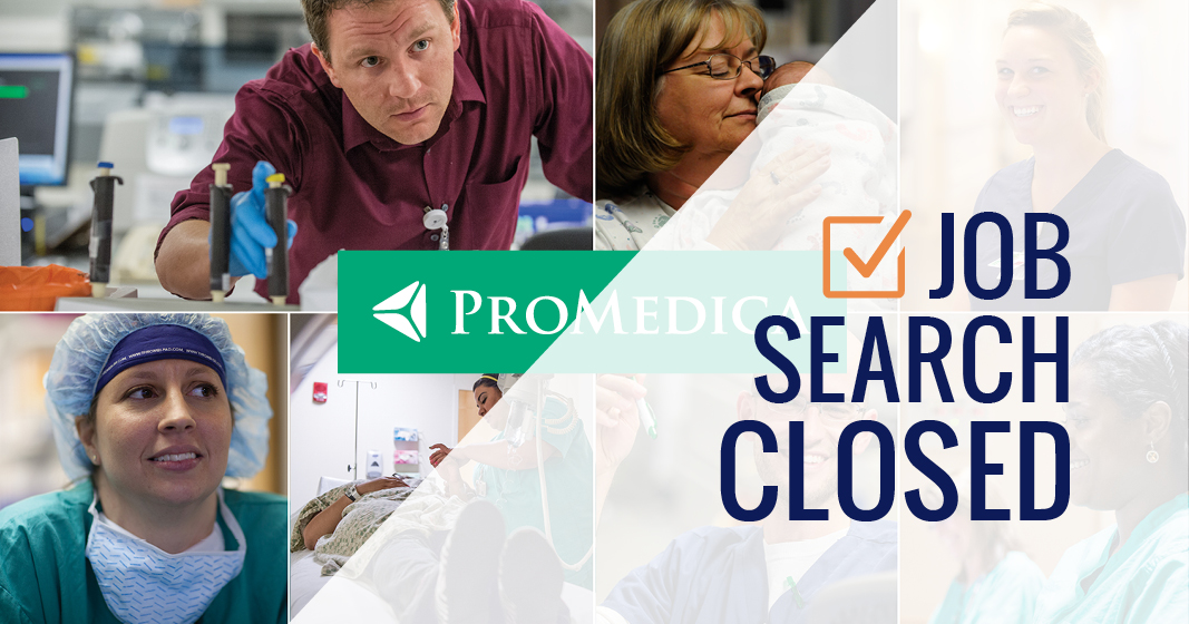 ProMedica Job Search Closed