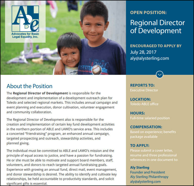 Reference our real-life example of a professional development director job description.