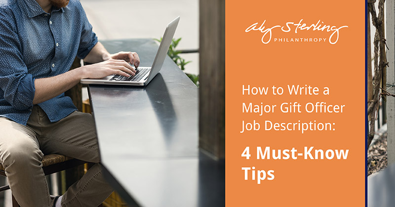 Crafting an ideal major gift officer job description can set the bar for your nonprofit's executive leadership. Attract top candidates for this crucial role with our key tips!