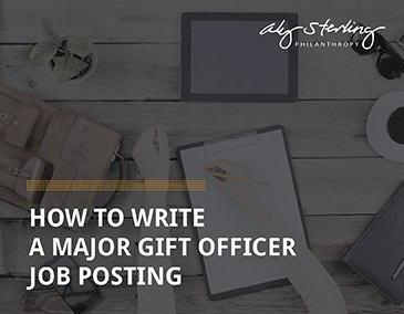 Learn more about hiring a major gift officer!