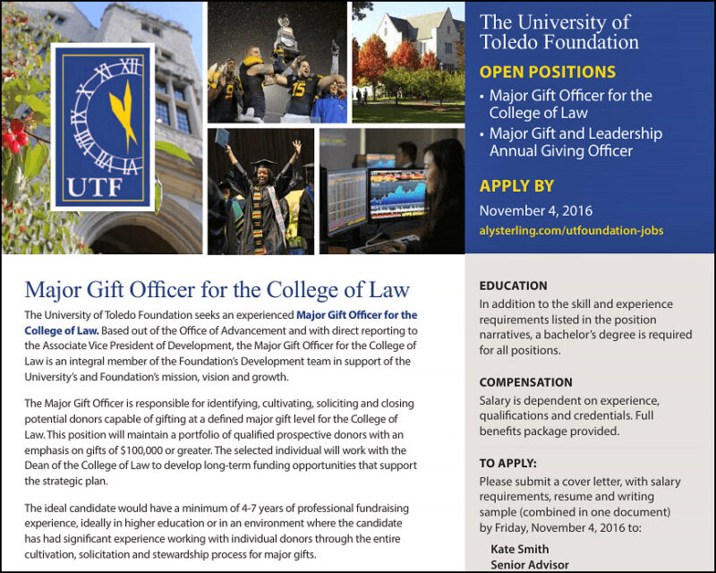 Reference our real-life example of a professional major gift officer job description.