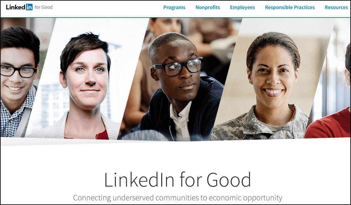 LinkedIn for Good uses personal connections for nonprofit job search.