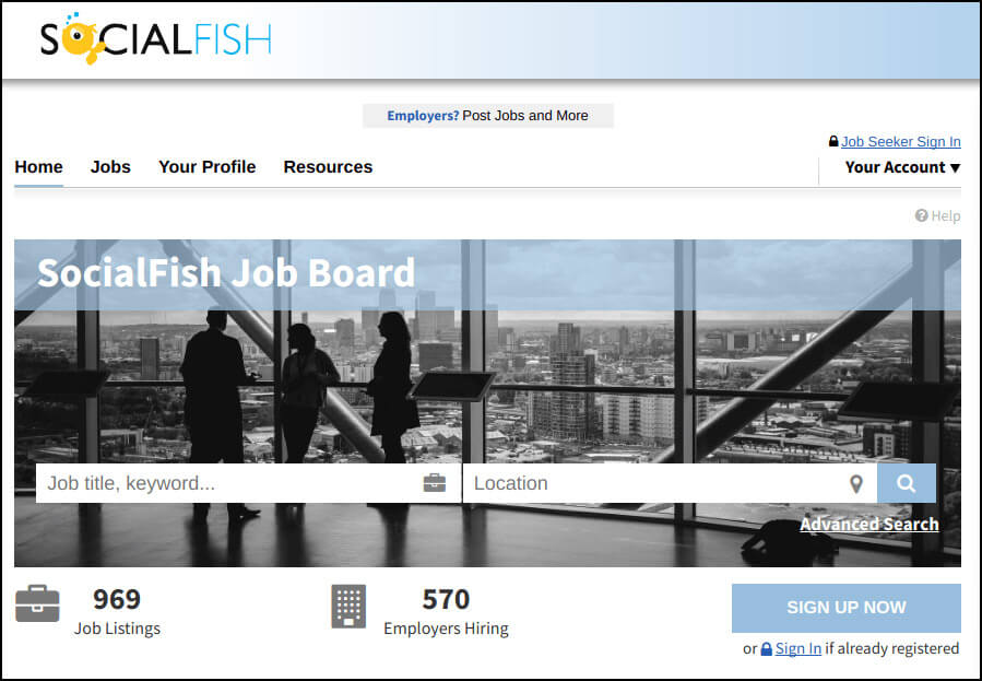 SocialFish will help your nonprofit with bonus job hunting resources.