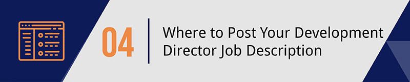 Navigate nonprofit job boards and letter templates to successfully promote your development director job opening.