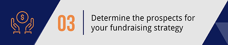 Determine the prospects of your fundraising strategy.