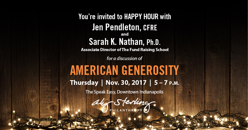 You're invited to HAPPY HOUR with Jen Pendleton and Sarah K. Nathan