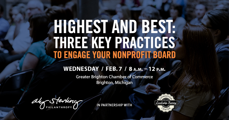 Join us for Highest and Best: Three Key Practices to Engage Your Nonprofit Board