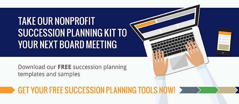 Download our nonprofit succession planning resource.