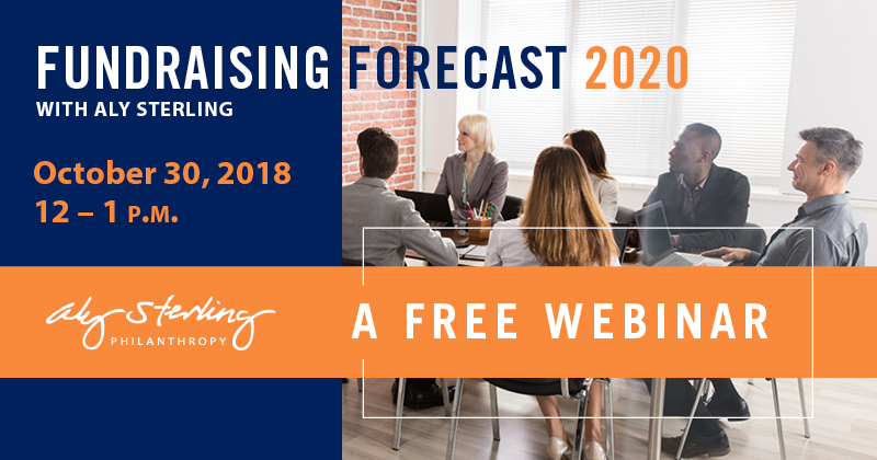 Register now for a free fundraising forecast webinar on Oct. 30