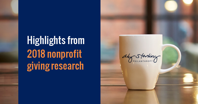 Highlights from 2018 nonprofit giving research