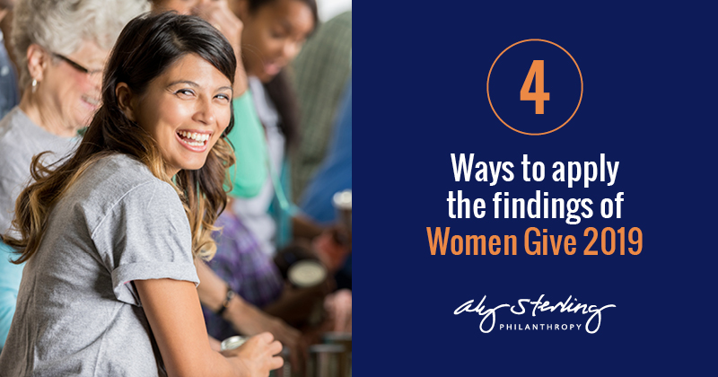 Four ways to apply the findings of Women Give 2019