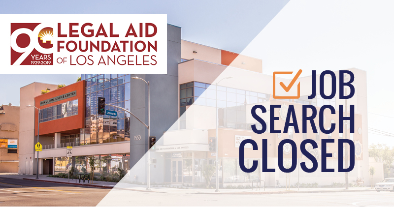 Open Position: Chief Development and Marketing Director at Legal Aid Foundation of Los Angeles [Apply to Aly Sterling Philanthropy]