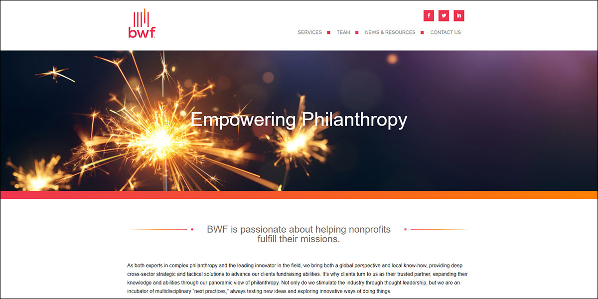 Visit the BWF website for more information about their nonprofit consulting services.