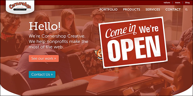 Head to the Cornershop Creative website for more information about their nonprofit consulting services.