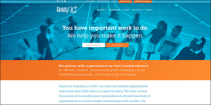 Go to GrantsPlus to learn more about their nonprofit consulting offerings.