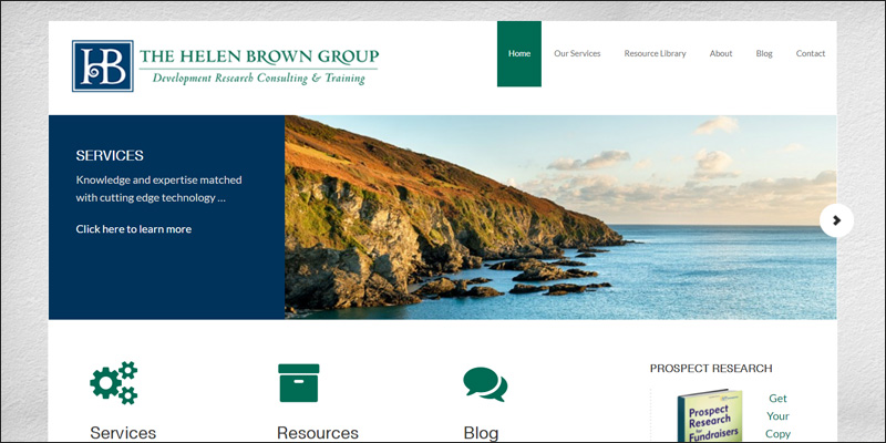 Visit the Helen Brown Group's website for more information about their nonprofit consulting services.