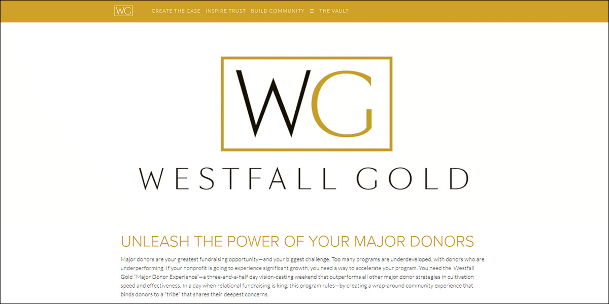 Head to the Westfall Gold website to learn more about their nonprofit consulting offerings.