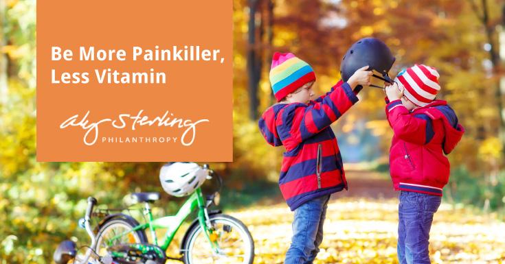 Be more painkiller, less vitamin.